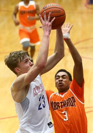 2-24-17<br /> Kokomo vs Fort Wayne Northrop boys basketball<br /> Anthony Barnard shoots.<br /> Kelly Lafferty Gerber   Kokomo Tribune