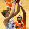 2-24-17<br /> Kokomo vs Fort Wayne Northrop boys basketball<br /> Anthony Barnard shoots.<br /> Kelly Lafferty Gerber | Kokomo Tribune
