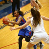 2-3-17<br /> Kokomo vs Zionsville girls basketball<br /> Kokomo's Tionna Brown looks for a pass.<br /> Kelly Lafferty Gerber | Kokomo Tribune