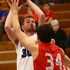 2-2-17<br /> Northwestern vs West Lafayette boys basketball<br /> NW's Trey Richmond looks to the basket.<br /> Kelly Lafferty Gerber | Kokomo Tribune