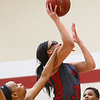 2-25-17<br /> IUK vs Ohio Christian girls basketball<br /> Dejianna Butler gets fouled as she shoots.<br /> Kelly Lafferty Gerber | Kokomo Tribune