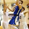 2-21-17<br /> Western vs Carroll boys basketball<br /> Carroll's Trenton Brumett shoots.<br /> Kelly Lafferty Gerber | Kokomo Tribune