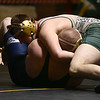 2-4-17<br /> Regional wrestling<br /> Eastern's Evan Ellis and Oak Hill's Owen Perkins in the 285.<br /> Kelly Lafferty Gerber | Kokomo Tribune
