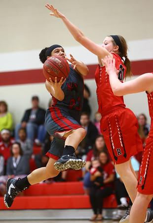 2-22-17<br /> IUK vs Rio Grande girls basketball<br /> IUK's Deja Felder goes up for a shot.<br /> Kelly Lafferty Gerber | Kokomo Tribune