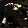 2-4-17<br /> Regional wrestling<br /> Eastern's Tytus Morrisett and Peru's Torion'Ja Forrest in the 132.<br /> Kelly Lafferty Gerber | Kokomo Tribune
