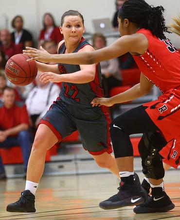 2-22-17<br /> IUK vs Rio Grande girls basketball<br /> IUK's Mackenzie Johnson dribbles down the court.<br /> Kelly Lafferty Gerber   Kokomo Tribune