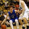 2-21-17<br /> Western vs Carroll boys basketball<br /> Carroll's Trenton Brumett tries to get around Western's defense.<br /> Kelly Lafferty Gerber | Kokomo Tribune