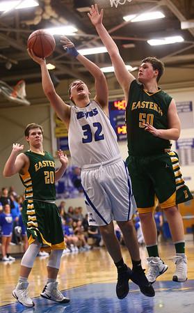 2-7-17<br /> Tipton vs Eastern boys basketball<br /> Tipton's Payton Hitchings shoots.<br /> Kelly Lafferty Gerber | Kokomo Tribune