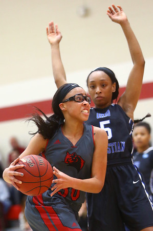 2-25-17<br /> IUK vs Ohio Christian girls basketball<br /> Dejianna Butler looks to the basket.<br /> Kelly Lafferty Gerber | Kokomo Tribune