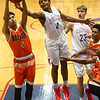 2-24-17<br /> Kokomo vs Fort Wayne Northrop boys basketball<br /> Trajan Deckard goes after a rebound.<br /> Kelly Lafferty Gerber | Kokomo Tribune