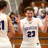 2-17-17<br /> Northwestern defeats Twin Lakes 56-48 for the Hoosier Conference Championship<br /> NW's Peyton Hawk celebrates after it's clear Northwestern will win the game.<br /> Kelly Lafferty Gerber | Kokomo Tribune
