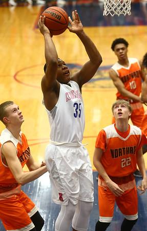 2-24-17<br /> Kokomo vs Fort Wayne Northrop boys basketball<br /> Jeremy Baker shoots.<br /> Kelly Lafferty Gerber | Kokomo Tribune