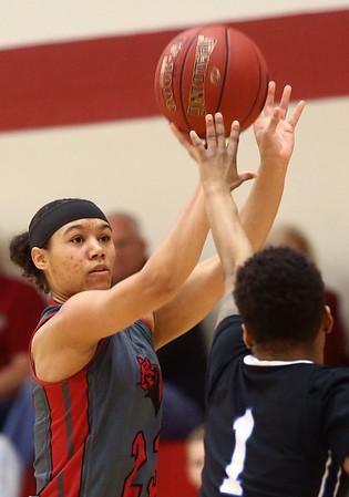 2-25-17<br /> IUK vs Ohio Christian girls basketball<br /> Deja Felder puts up a shot.<br /> Kelly Lafferty Gerber | Kokomo Tribune