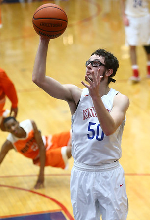 2-24-17<br /> Kokomo vs Fort Wayne Northrop boys basketball<br /> Nate Hemmerich shoots.<br /> Kelly Lafferty Gerber | Kokomo Tribune