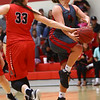 2-22-17<br /> IUK vs Rio Grande girls basketball<br /> IUK's Mackenzie Johnson gets fouled as she goes up to the basket.<br /> Kelly Lafferty Gerber | Kokomo Tribune