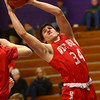 2-2-17<br /> Northwestern vs West Lafayette boys basketball<br /> WL's George Karlaftis grabs a rebound.<br /> Kelly Lafferty Gerber | Kokomo Tribune