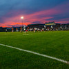 The sunsets as Page County takes possession of the ball