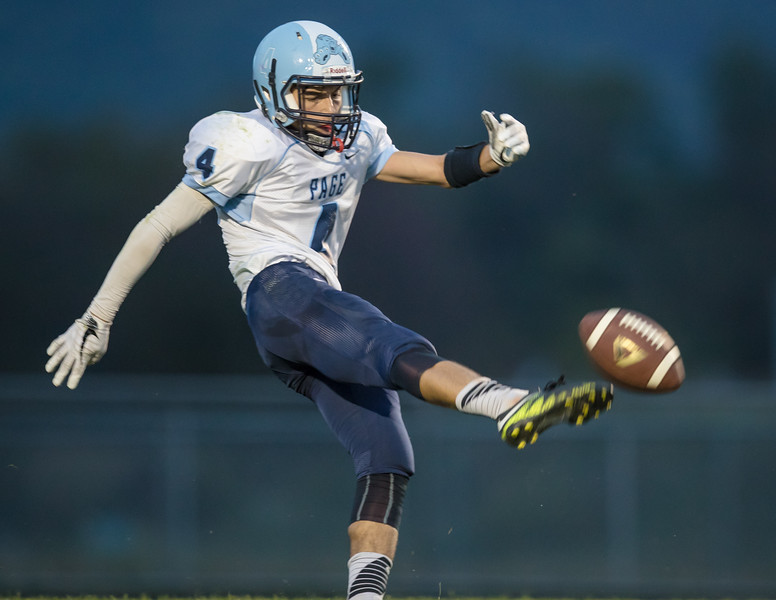 Mark McClung punts the ball