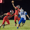 Dylan Williams lets the ball go on a pass to Trenton Morris
