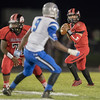 Dylan Williams drops back for a pass attempt