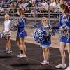 Rec League cheerleaders join the SHS Cheerleaders on the sideline
