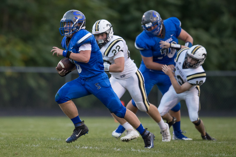 Brenden Ritchie sails by the Monticello defense.
