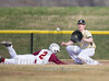 Haigh School Varsity Baseball. Ithaca Little Red at Corning Hawks. April 10, 2017.