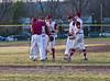 Haigh School Varsity Baseball. Ithaca Little Red at Corning Hawks. April 10, 2017.