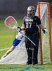 Girls High School Varsity Lacrosse. Corning Hawks at Horseheads Blue Raiders. April 12, 2017.