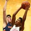 1-13-17<br /> Kokomo vs Harrison boys basketball<br /> Kokomo's Keenen Wheeler goes for a shot.<br /> Kelly Lafferty Gerber | Kokomo Tribune