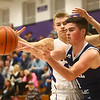 1-3-17<br /> Northwestern vs Central Catholic boys basketball<br /> CC's Thomas Gothard looks for a pass.<br /> Kelly Lafferty Gerber | Kokomo Tribune