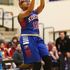 1-17-17<br /> Tipton vs Kokomo girls basketball<br /> Kokomo's Tevin Deckard shoots.<br /> Kelly Lafferty Gerber | Kokomo Tribune