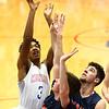 1-13-17<br /> Kokomo vs Harrison boys basketball<br /> Kokomo's Keenen Wheeler shoots.<br /> Kelly Lafferty Gerber | Kokomo Tribune