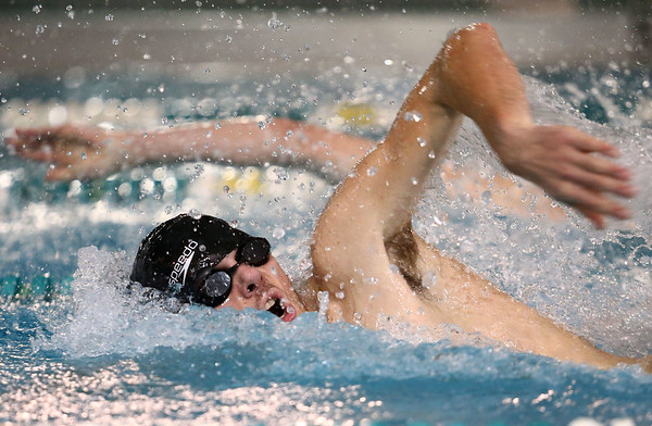 1-5-17<br /> Eastern vs Cass swimming<br /> Eastern's Zach Eckart in the 50 Y Freestyle<br /> Kelly Lafferty Gerber | Kokomo Tribune