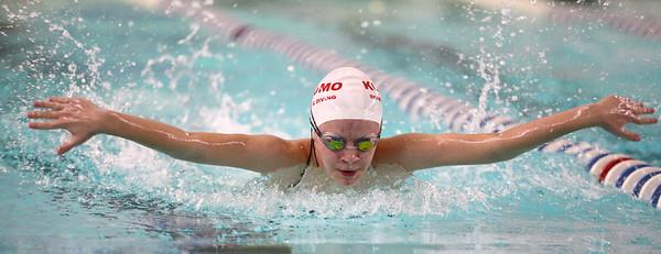 1-10-17<br /> Kokomo swimming<br /> Madison Cleaver in the girls 200 Y IM.<br /> Kelly Lafferty Gerber | Kokomo Tribune