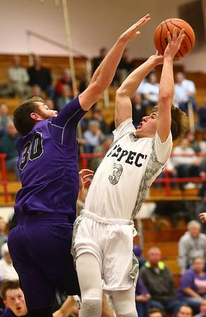1-20-17<br /> Cass vs Northwestern boys basketball<br /> LC's #3 goes for a shot.<br /> Kelly Lafferty Gerber | Kokomo Tribune