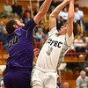 1-20-17<br /> Cass vs Northwestern boys basketball<br /> LC's #3 goes for a shot.<br /> Kelly Lafferty Gerber | Kokomo Tribune
