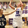 1-11-17<br /> Northwestern vs Oak Hill girls basketball<br /> NW's Brianna Hahn goes up for a shot.<br /> Kelly Lafferty Gerber | Kokomo Tribune