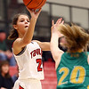 1-7-17<br /> Eastern vs Taylor girls basketball<br /> Taylor's Alison Pemberton shoots.<br /> Kelly Lafferty Gerber | Kokomo Tribune