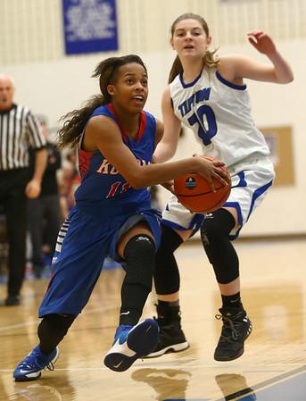 1-17-17<br /> Tipton vs Kokomo girls basketball<br /> Kokomo's Tionna Brown looks to the basket.<br /> Kelly Lafferty Gerber | Kokomo Tribune