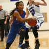 1-17-17<br /> Tipton vs Kokomo girls basketball<br /> Kokomo's Tionna Brown looks to the basket.<br /> Kelly Lafferty Gerber | Kokomo Tribune