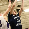 1-3-17<br /> Northwestern vs Central Catholic boys basketball<br /> CC's Carson Barrett grabs a rebound.<br /> Kelly Lafferty Gerber | Kokomo Tribune