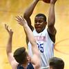 1-13-17<br /> Kokomo vs Harrison boys basketball<br /> Kokomo's Jeremy Baker grabs a rebound.<br /> Kelly Lafferty Gerber | Kokomo Tribune