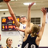 1-11-17<br /> Northwestern vs Oak Hill girls basketball<br /> NW's Madison Layden shoots.<br /> Kelly Lafferty Gerber | Kokomo Tribune