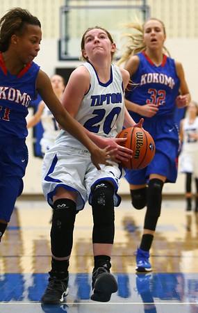 1-17-17<br /> Tipton vs Kokomo girls basketball<br /> Tipton's Kelsey Mitchell looks to the basket.<br /> Kelly Lafferty Gerber   Kokomo Tribune