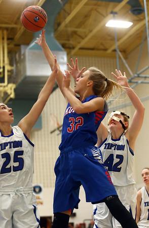 1-17-17<br /> Tipton vs Kokomo girls basketball<br /> Kokomo's Brittany Barnard goes up for a shot.<br /> Kelly Lafferty Gerber | Kokomo Tribune
