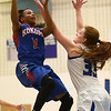 1-17-17<br /> Tipton vs Kokomo girls basketball<br /> Kokomo's Tionna Brown jumps for a shot.<br /> Kelly Lafferty Gerber | Kokomo Tribune