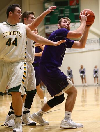 1-14-17<br /> Eastern vs Northwestern boys basketball<br /> NW's Trey Richmond looks to the basket.<br /> Kelly Lafferty Gerber | Kokomo Tribune