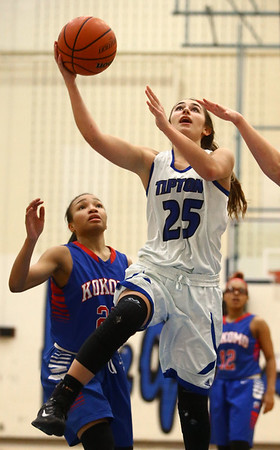 1-17-17<br /> Tipton vs Kokomo girls basketball<br /> Tipton's Rachel Ressler shoots.<br /> Kelly Lafferty Gerber | Kokomo Tribune
