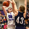 1-11-17<br /> Northwestern vs Oak Hill girls basketball<br /> NW's Stephanie Burns shoots.<br /> Kelly Lafferty Gerber | Kokomo Tribune